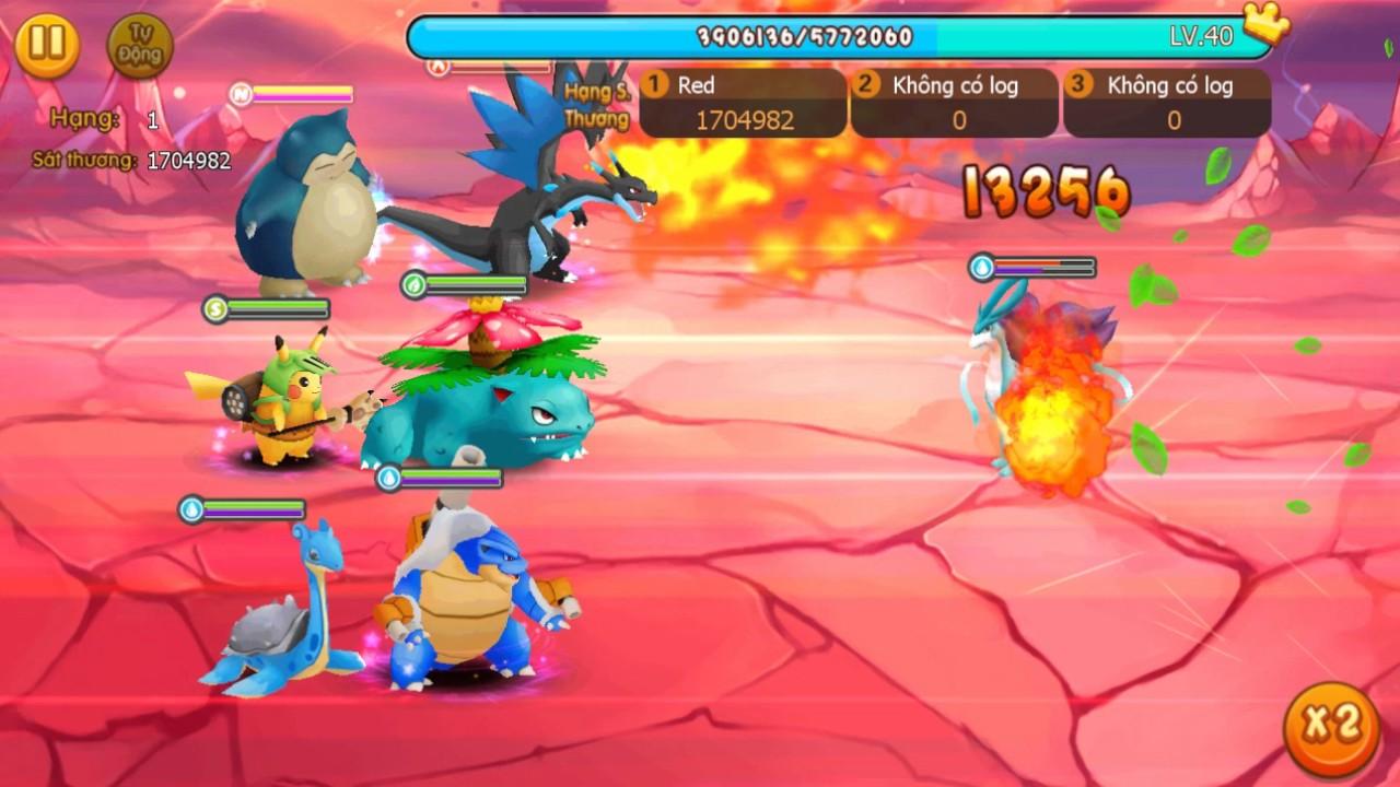 Chiến Pokemon huyền thoại trong game mobile Vua Pocket 3D
