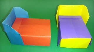 How To Make A Easy Paper Bed !! Origami Bed Easy Tutorials