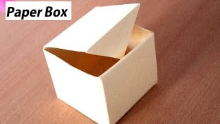 DIY - How To Make Paper Box That Opens And Closes | Paper Gift Box Origami