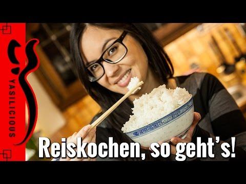 Asiatisch REISKOCHEN - so bekommt man den Reis wie beim Asiaten hin ;)
