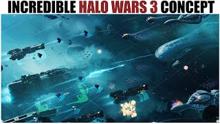 The Rejected Halo SPACE BATTLE Game You NEED TO SEE! (Halo Wars 3 Concept)