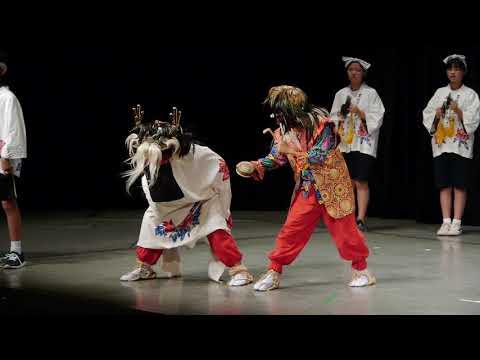上十川獅子踊 黒石市 上十川小学校獅子踊子供組