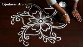 Simple Friday Kolam Designs Without Dots * Small Muggulu Designs * Easy Rangoli by Rajeshwari Arun