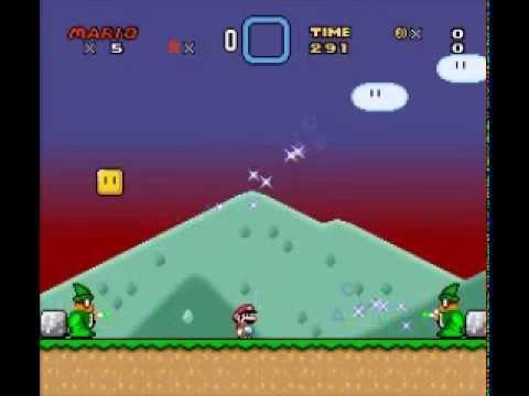 Super Mario World - Custom sprites test - смотреть онлайн на
