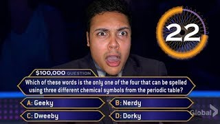 WINNING $1,000,000 ON WHO WANTS TO BE A MILLIONAIRE