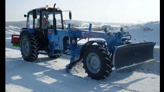 Расчищаем дорогу от снега.МТЗ-892