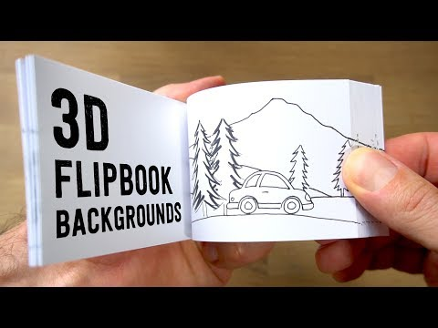 Creating the parallax effect for flip books