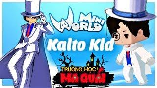 TRƯỜNG HỌC MA QUÁI: -tập 19- 1 ngày làm Kaito kid   thử thách trở thành ảo thuật gia mini world