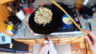 POV Fried Rice With Fridge Scraps