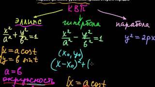 §34 Параметрические уравнения кривых второго порядка