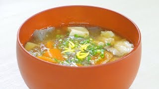 Ken Chin Jiru (Tofu And Vegetable Soup)  けんちん汁 【ラファエル Raphael Cooking】【4K】