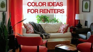 Home Color Inspiration For Renters That Can't Paint Their Walls: From My Chicago, LA & NYC Studio.