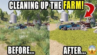 CLEARING OUT THE FARM | NEW UPDATE! | LIVESTREAM | FARMING SIMULATOR 2019