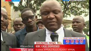 Lawyers react after appellate court dismisses IEBC