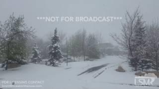 3-23-17 Salt Lake City, Utah Heavy Snow