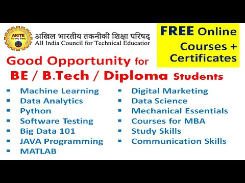 free online courses with certificates in india by government, aicte ...