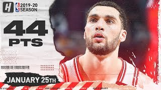 Zach LaVine 44 Points 10 Reb 8 Ast Full Highlights | Bulls vs Cavaliers | January 25, 2020