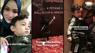 Alahai Comel Jer Yusuf Iskandar Cakap Bye Kat Daddy Hairul Azreen