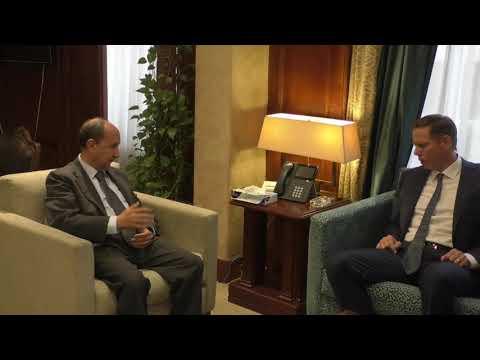 لقاء الوزير / عمرو نصار مع ممثلي شركة شنايدر العالمية