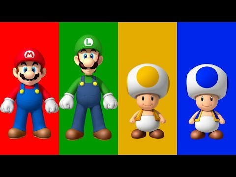 New Super Mario Bros Wii - All Characters