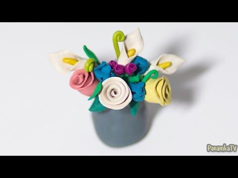 Лепка из пластилина #14: Как сделать Цветы.