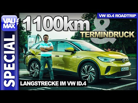 1.100 km & Termindruck - VW ID.4 Langstrecke - Verbrauch | Ladezeiten | Kosten