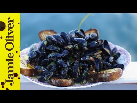 Steamed Mussels With Smoky Bacon & Cider | Jamie Oliver