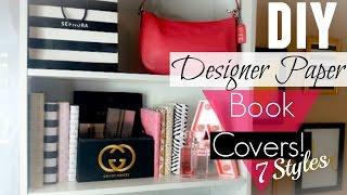 DIY: Designer Paper Book Covers! (Easy)