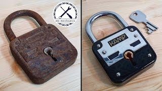 Broken Rusty Lock with Missing Key - Restoration