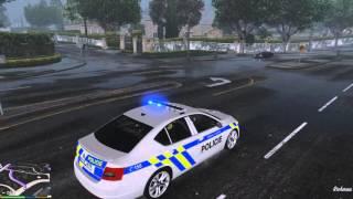 GTA V Škoda Octavia III Policie - Výjezd k nehodě [HD]