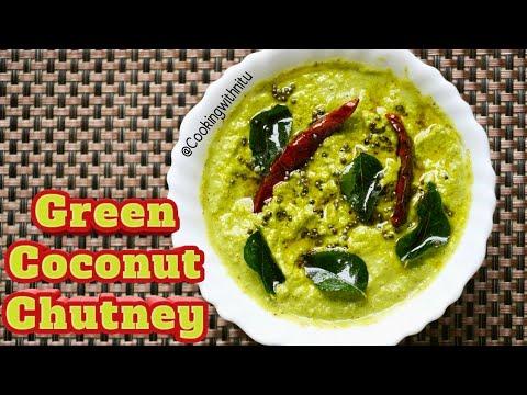 Green Coconut Chutney Recipe | टेस्टी साउथ इंडियन स्टाइल नारियल चटनी | Coriander Coconut Chutney