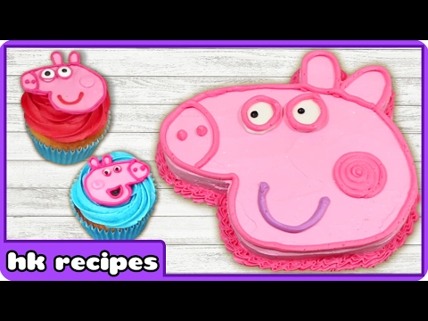 Peppa Pig Birthday Cake and Cupcake Decorating Tips | Easy Peppa Pig Ice Cream by Hoopla Recipes
