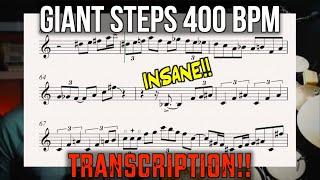 Giant Steps at 400 bpm SOLO TRANSCRIPTION!!