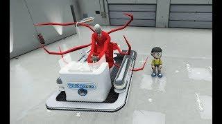 GTA 5 - Slenderman lấy tàu không gian của Doraemon - Nobita gặp nguy | GHTG