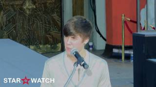 "Justin Bieber sings ""Rockin' Robin"" at Michael Jackson ceremony"
