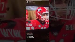 Bama Signee Eyabi Anoma Watching Alabama `s National Title Football Game va The Georgia Bulldogs