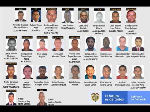 Estos son los delincuentes mas buscados, señalados de asesinar lideres sociales | Noticias Caracol