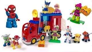 Paw Patrol Help Spiderman Duplo Lego Blocks Truck Adventure