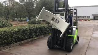 How To Operate Forklift with Paper Roll Clamp