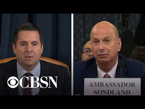 Day 4, Part 5: Devin Nunes and Steve Castor question Gordon Sondland