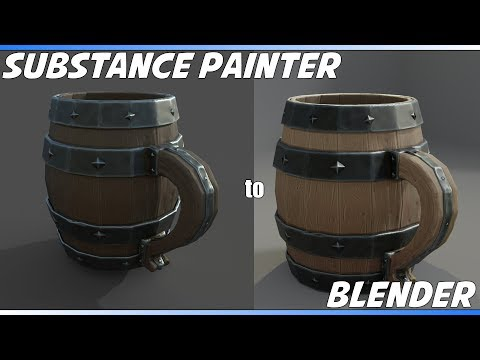 How to set up Substance Painter exports for Blender Cycles