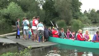 preview picture of video 'KANUPROJEKT Clip 8:  LAHN-Tour - Tag 5 - Kanuclub Limburg mit DRACHENBOOT  - made bei kanukassel'