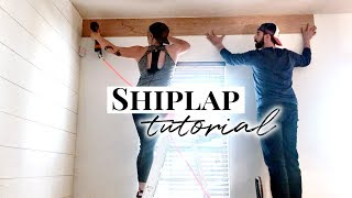 Shiplap Walls | How to Install Plywood Shiplap