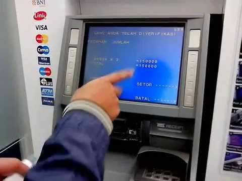 tutorial menabung d ATM BNI