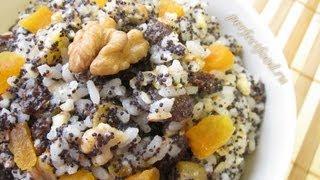 Смотреть онлайн Рецепт кутьи из риса с изюмом на Рождество