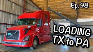 Ep. 98 : Loading Rice TX to Meadville PA : Hopper Bottom Grain Hauling