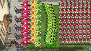 Plants vs Zombies 2 - Sling Pea, Wasabi Whip and Red Stinger