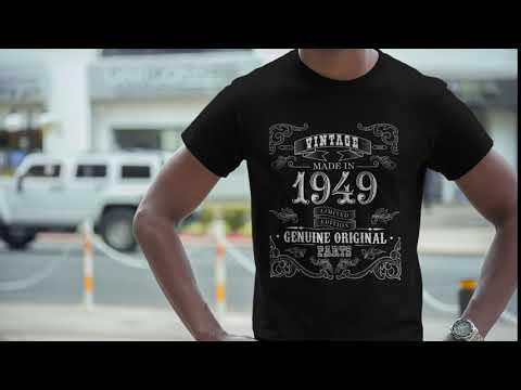 1949 Birthday Gift, Vintage Born in 1949 t-shirt for men, 72nd Birthday, Made in 1949 T-shirt, 72 Year Old Birthday Shirt - 1949 Collection