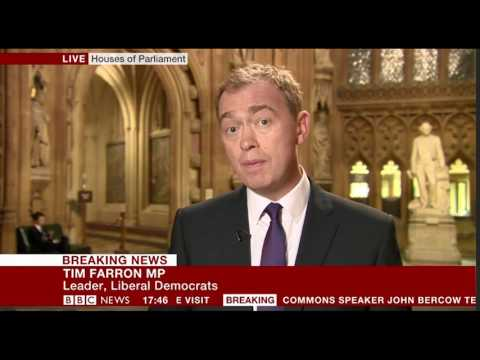 Tim Farron on banning Donald Trump from speaking in Parliament