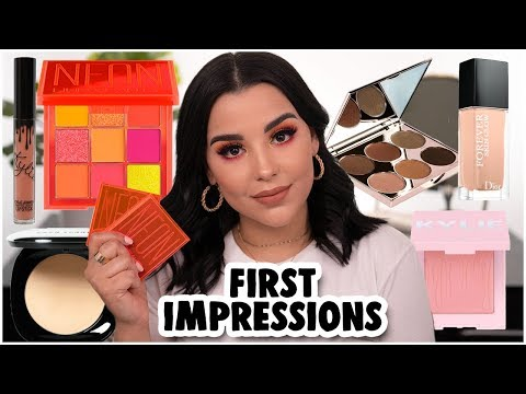 FIRST IMPRESSIONS: TRYING NEW MAKEUP PRODUCTS 2019! | MakeupByAmarie